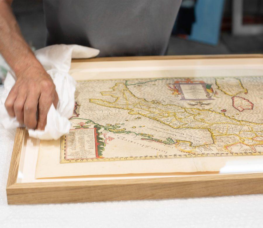 werk op papier-oude-kaart